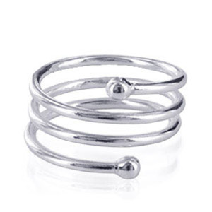 925 Sterling Silver Polished Finish Spiral Band #LWRS005