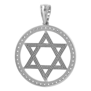 Sterling Silver CZ Star Pendant