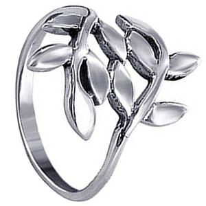 Sterling Silver Ivy Leaf Design Ring