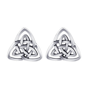 Triquetra Celtic Knot Stud Earrings
