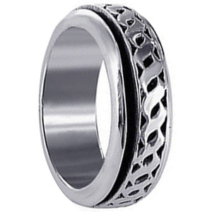 Men's 925 Sterling Silver 8mm Spinning Band #LWRS027