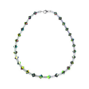Sterling Silver Vitrail Medium Swarovski Crystal Necklace