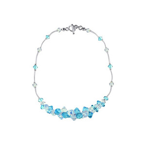 Clear and Light Blue Crystal Necklace