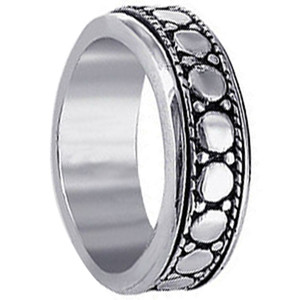 Men's 925 Sterling Silver 7mm Spinning Band #LWRS028