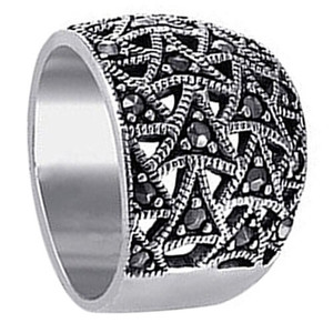 Sterling Silver Marcasite Ring