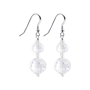 Swarovski Elements Multifaceted Crystal Handmade Drop Earrings