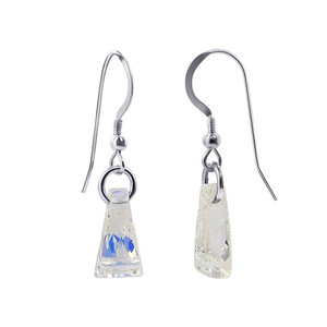 925 Silver AB Crystal Drop Earrings