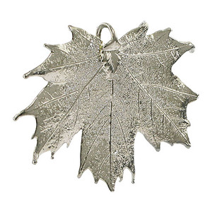 Platinum Plated Leaf Pendant