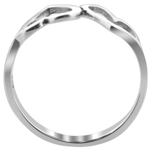 925 Silver Emotional Twin Open Heart Love Ring