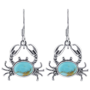 Turquoise Sea Crab Drop Earrings