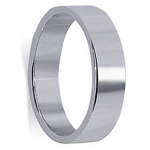 Mens 925 Sterling Silver Prominent 6mm Band