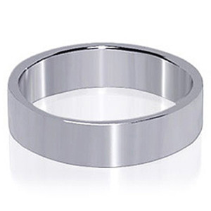 Mens Sterling Silver Prominent Band