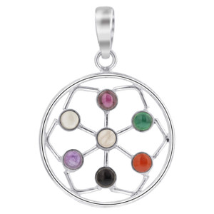 Multi Gemstone Pendant
