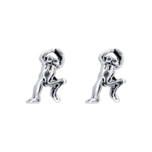925 Silver 9mm Jumping Frog Post back Kids Stud Earrings