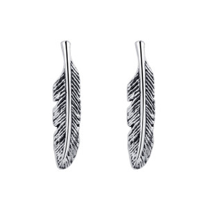 925 Silver Cartilage Feather Post back Kids Stud Earrings