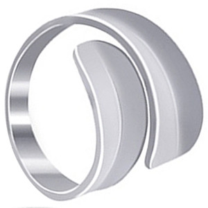 925 Sterling Silver Polished Finish Journey Ring