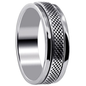 Men's 925 Silver Endless Knot Design 7mm Spinning Band
