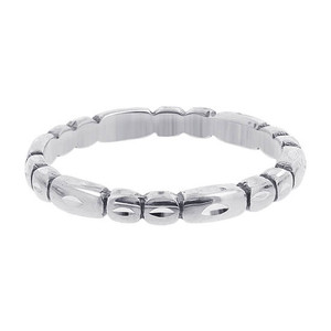 925 Sterling Silver Faceted Cut  2mm Band