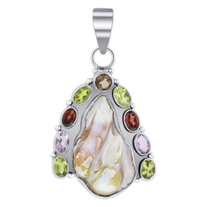 Sterling Silver Freshwater Coin Pearl Pendant