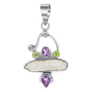 925 Silver Freshwater Coin Pearl Pendant