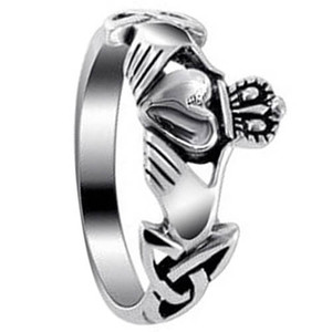 Sterling Silver Claddagh Celtic Ring