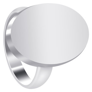 925 Sterling Silver Oval Engravable Ring