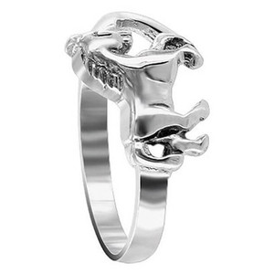 925 Sterling Silver Horse Pony Ring
