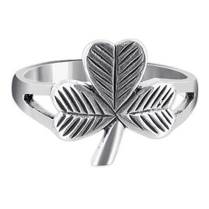 925 Sterling Silver Three Leaf Clover Ring #LWRS150
