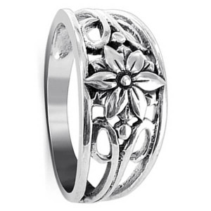 Floral Filigree Ring