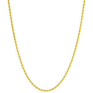 Stainless Steel Gold Plated 2.3mm Rope Chain Necklace