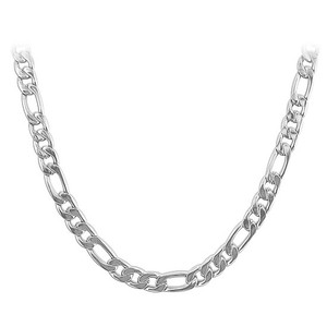 Men's Stainless Steel 5mm wide Figaro Chain Necklace