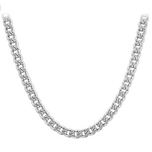 Men's Stainless Steel 4.5mm wide Curb Link Chain Necklace