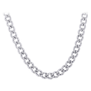 Men's Stainless Steel 7.5mm wide Curb Link Chain Necklace