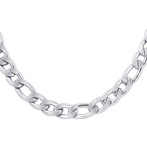 Men's Stainless Steel 8.5mm Figaro Chain Necklace