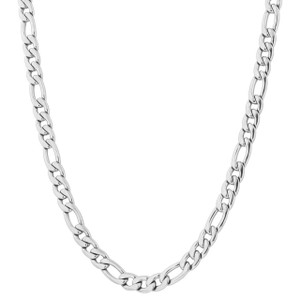 Men's Stainless Steel 9.5mm Figaro Chain Necklace