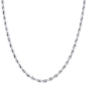 Men's Stainless Steel 5mm Rope Chain Necklace