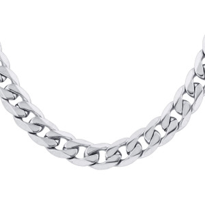 Men's Stainless Steel 8mm Curb Chain Necklace