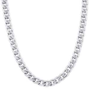 Men's Stainless Steel 9.5mm Curb Chain Necklace