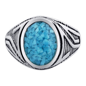Turquoise Gemstone Band Ring