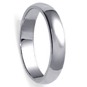 925 Sterling Silver Polished Finish 5.5mm Wedding Band