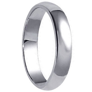 Mens 925 Sterling Silver 7mm Wedding Band