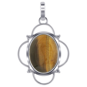 Sterling Silver Tigers Eye Pendant