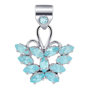 925 Silver Butterfly Style Bali Design Pendant