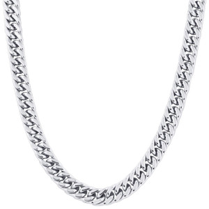 Men's Stainless Steel 11.5mm Curb Chain Necklace