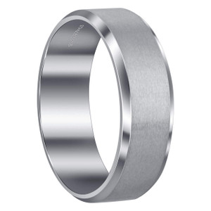 Men's Stainless Steel Brushed Design 8mm Comfort Fit Polished Inner Band