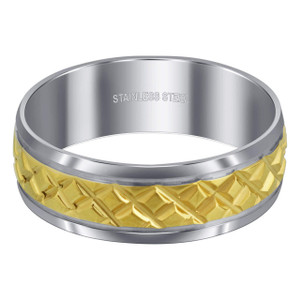 Diamond Embossed Comfort Fit Band