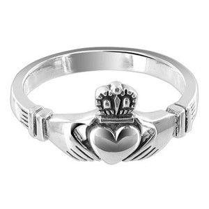 Sterling Silver Irish Claddagh Ring #LWRS184