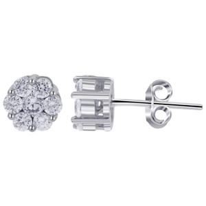 Clear Cubic Zirconia Stud Earrings