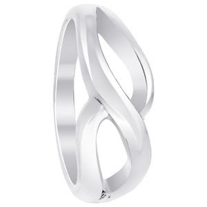 925 Sterling Silver Polished Finish 6mm Wide Swirl Pattern Ring