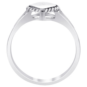 925 Silver Polished Finish 9mm x 7mm Heart Ring